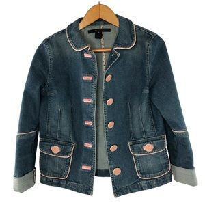 Marc Jacobs Jean Jacket w/pink accents, S